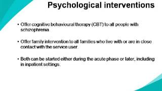 Schizophrenia - NICE Guidance