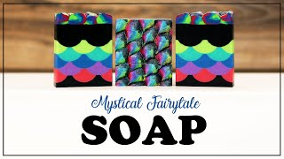 Making Mystical Fairytale Cold Process Handmade Soap With Piped Painted Rainbow Dragon Scale Tail