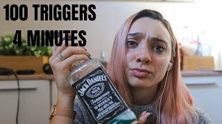 100 TRIGGERS IN 4 MINUTES... in my BATHROOM 😂 ASMR