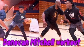 Utah Jazz Donovan Mitchell  NBA Skills Workout