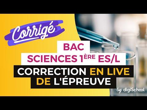 Bac 2017 - Correction en LIVE de l'épreuve de SCIENCES (1ère ES/L)