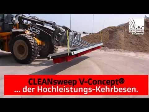 Schiebebesen bzw Blockbesen Biogasanlage - CLEANsweep V-Concept Kehrbesen