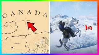 How To Get To CANADA In Red Dead Redemption 2! (RDR2 SECRET Part Of The Map)