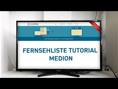 Fernsehliste auf Medion TVs installieren - Tutorial