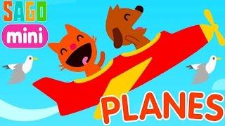 Sago Mini Planes/Саго Мини Самолеты.Животные в Полёте.Развивающий и Обучающий Мультик для Детей
