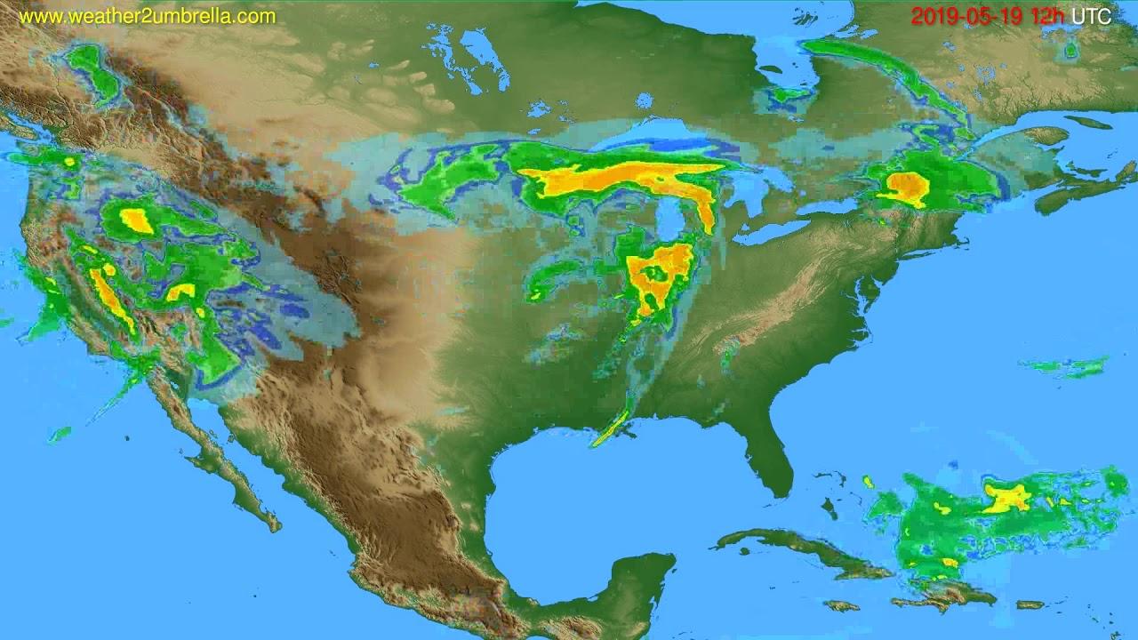 Radar forecast USA & Canada // modelrun: 00h UTC 2019-05-19