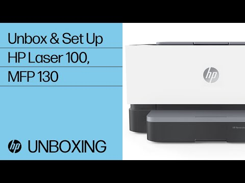 How to Unbox and Set Up the HP Laser 100 and MFP 130 Printer Series