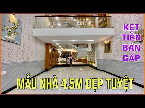 BÁN NHÀ MỚI ĐẸP 4.5M x 17M 3.5 LẦU 5PN TẶNG NỘI THẤT TUYỆT ĐẸP, HƯỚNG NAM, HẺM 6M