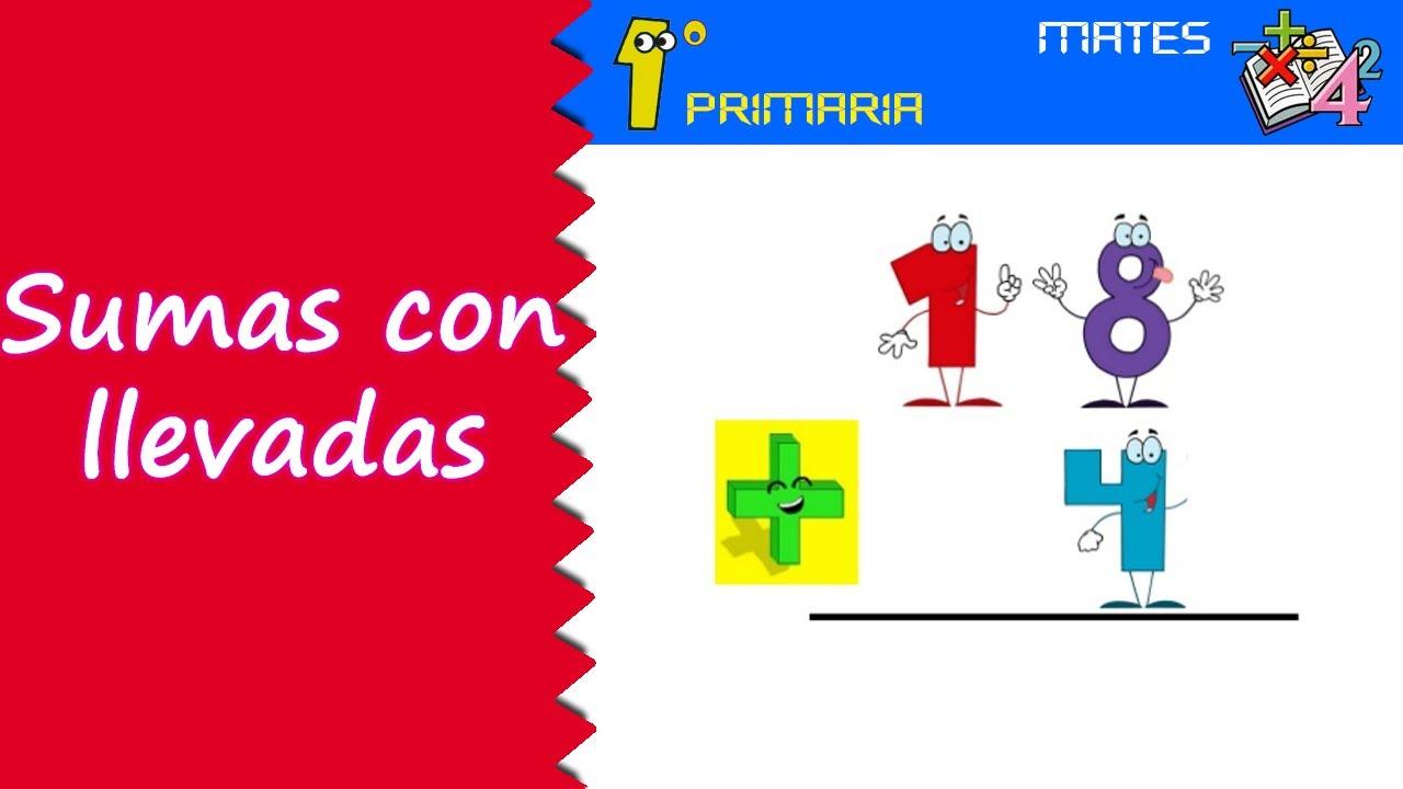 Matemáticas. 1º Primaria. Tema 6: Suma con llevadas