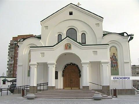 Церковь на улице большая полянка