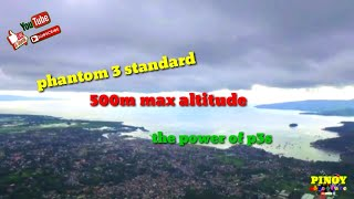 Dji phantom 3s 500m altitude, pagadian city