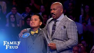 Last answer. Ron needs just 12 points... | Family Feud