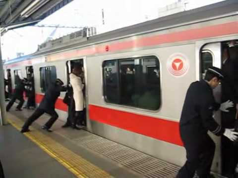 The Art of Stuffing People into a Subway Train | Messy ...