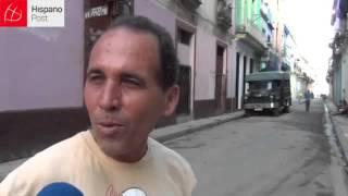Basureros en las calles de La Habana