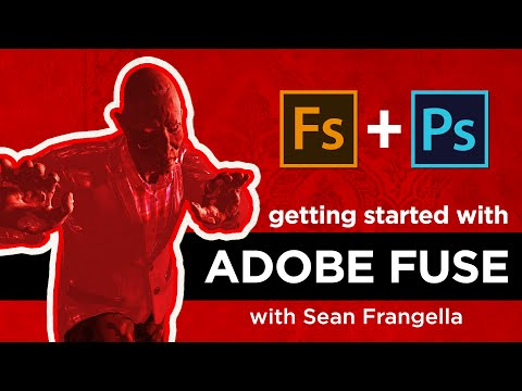 Adobe Fuse CC Tutorial – Create custom 3D characters, bring them into Photoshop CC 2015