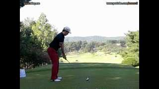 [300FPS] Bae Sang Moon slow motion Wood with Practice Golf Swing (9)