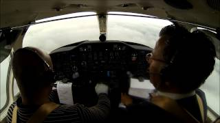 preview picture of video 'Citation V - procedure turn ILS at Cambridge, England!'