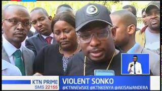 Violent Sonko assault journalists at EACC headquarters