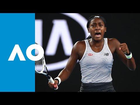 Coco Gauff's first round victory over Venus Williams (1R)  | Australian Open 2020