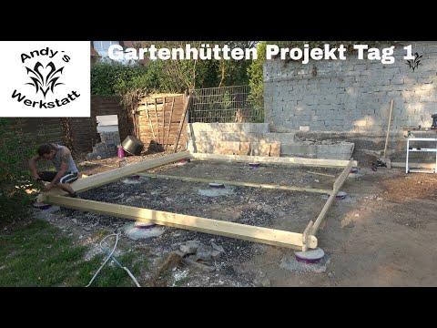 Gartenhütten Projekt Teil #2 - Anlieferung, Unterkonstruktion und Aufbau Tag 1