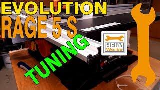 Evolution Rage 5 s Tischkreissäge Fazit und Tuning.