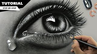 How To Draw Hyper Realistic Eyes | Step By Step
