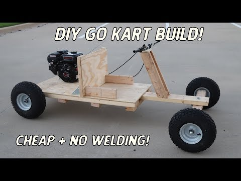 Homemade Wooden Go Kart Build | NO WELDING or Expensive Power Tools