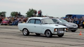 Moskvich 412 Turbo vs Infiniti G35 drag race