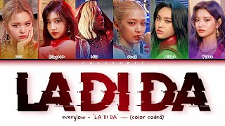 EVERGLOW (에버글로우) - LA DI DA — (Color Coded Lyrics pt-br/han/rom/가사)