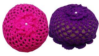 How To Crochet Hair bun ||Ballet Bun Cover||Hair Accessories||by shaizas crochet (epi-93)