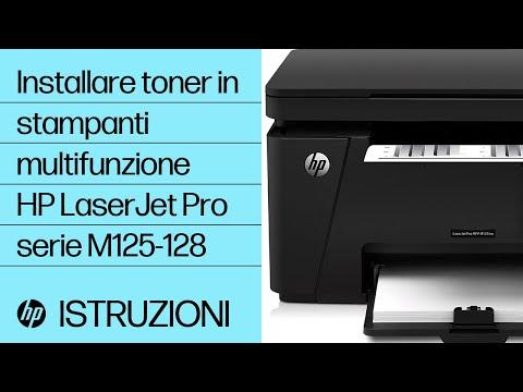 Installazione del toner nelle stampanti multifunzione HP LaserJet Pro serie M125-128