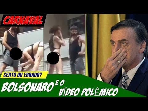 Bolsonaro posta vídeo com pornografia, e conteúdo tem acesso restringido