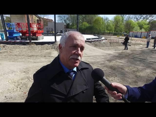 Grundsteinlegung, Interview mit Landrat Jürgen Dannenberg