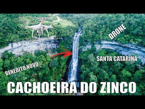 CACHOEIRA SALTO DO ZINCO em Benedito Novo - Santa Catarina