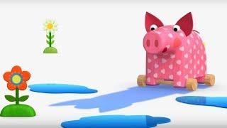 Деревяшки - Облака + Тень - развивающие мультфильмы для самых маленьких  0-4