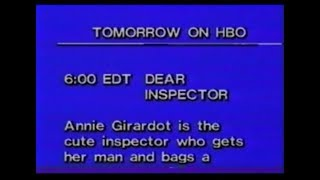 HBO promos with sign-on (October 16, 1979)