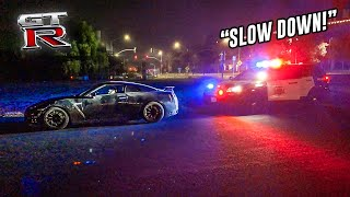 COPS PULLED ME OVER IN MY NISSAN GTR!! *MUST WATCH...*