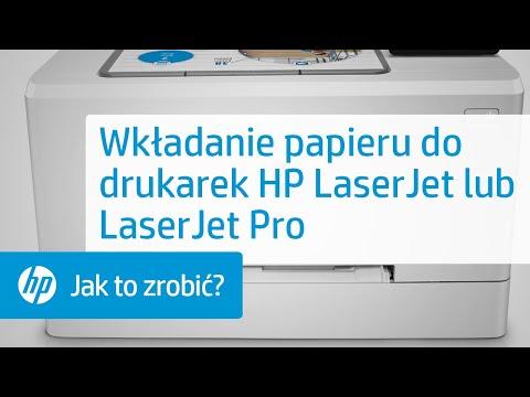 Ładowanie papieru w twojej drukarce HP LaserJet