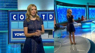 Rachel Riley 6th Jan 2017.  See Thru Lace And Big Boobs