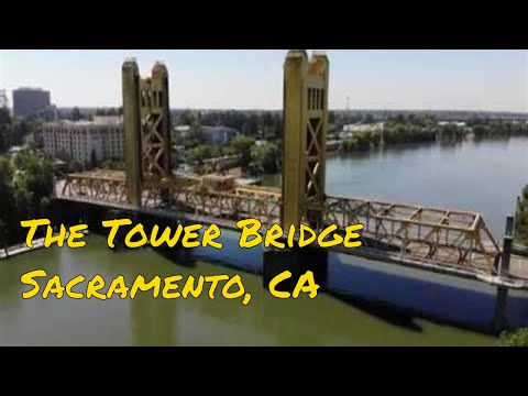 The Tower Bridge, Sacramento, CA (4K Drone)
