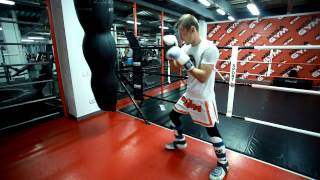 Кикбоксинг. Удар ногой Раундхаус кик(хай кик)- методика отработки с Мартыновым Андреем