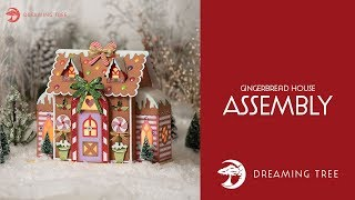 SVG File - Gingerbread House - Assembly Tutorial