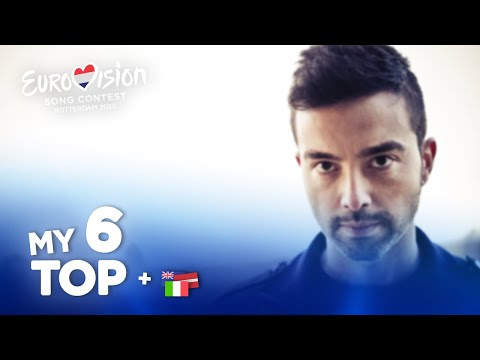 Eurovision 2020 - Top 6 (NEW: 🇮🇹🇱🇻🇦🇺)