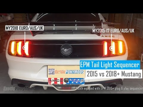 2015 2018 2019 Aus Euro Uk S550 Mustang Gt Ecoboost Tail