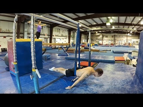RESISTANCE BAND WORK FOR STILL RINGS STRENGTH TRAINING - At All American Gymnastics (4K resolution)