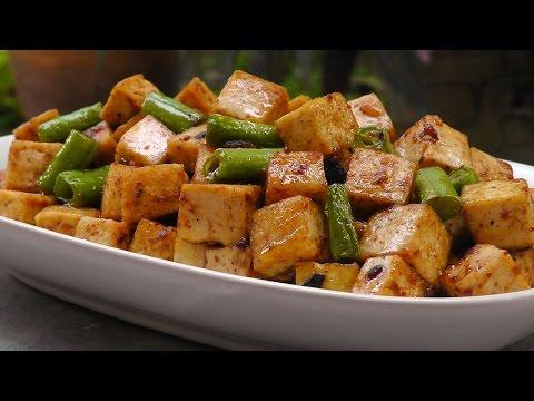 Chinesischer Tofu in Schwarzer Bohnen Sauce - Vegan Vegetarisches Rezept