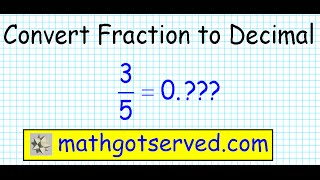converting fractions to decimals decimal