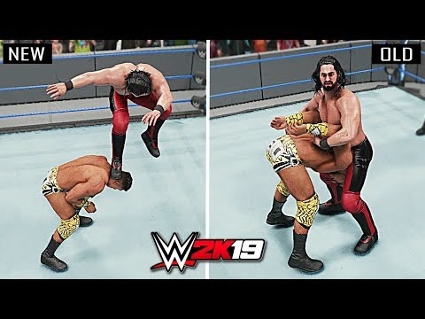 WWE 2K19 Top 10 New Finishers vs Old Finishers!!