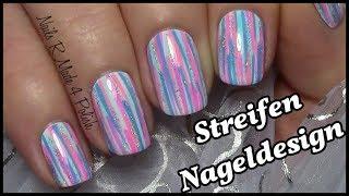 einfaches streifen muster nageldesign kurze ngel mit nagellack lackieren easy nailart short nails - Nagel Lackieren Muster