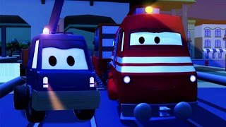 Troy The Train and the Cherry Picker Truck in Car City | Cars & Trucks cartoon for children